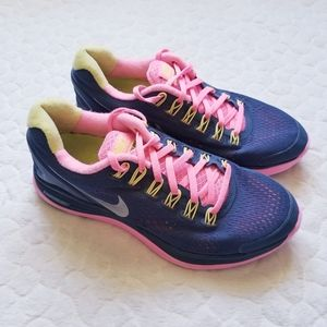 Nike LunarGlide4 athletic shoes running gym navy
